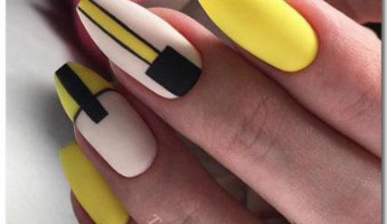 Модный желтый маникюр 2019