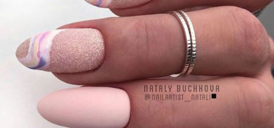 Модные ногти 2019: мраморный маникюр